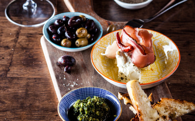 antipasto food photography