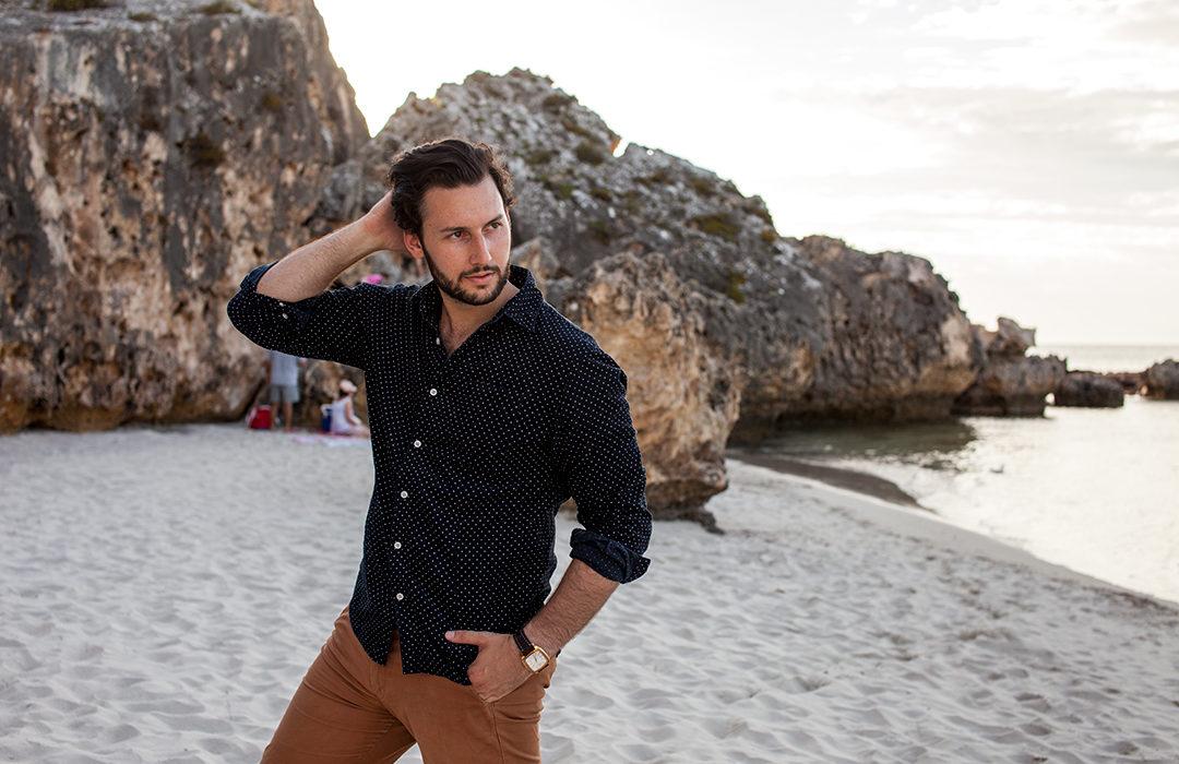nick beach fashion photoshoot