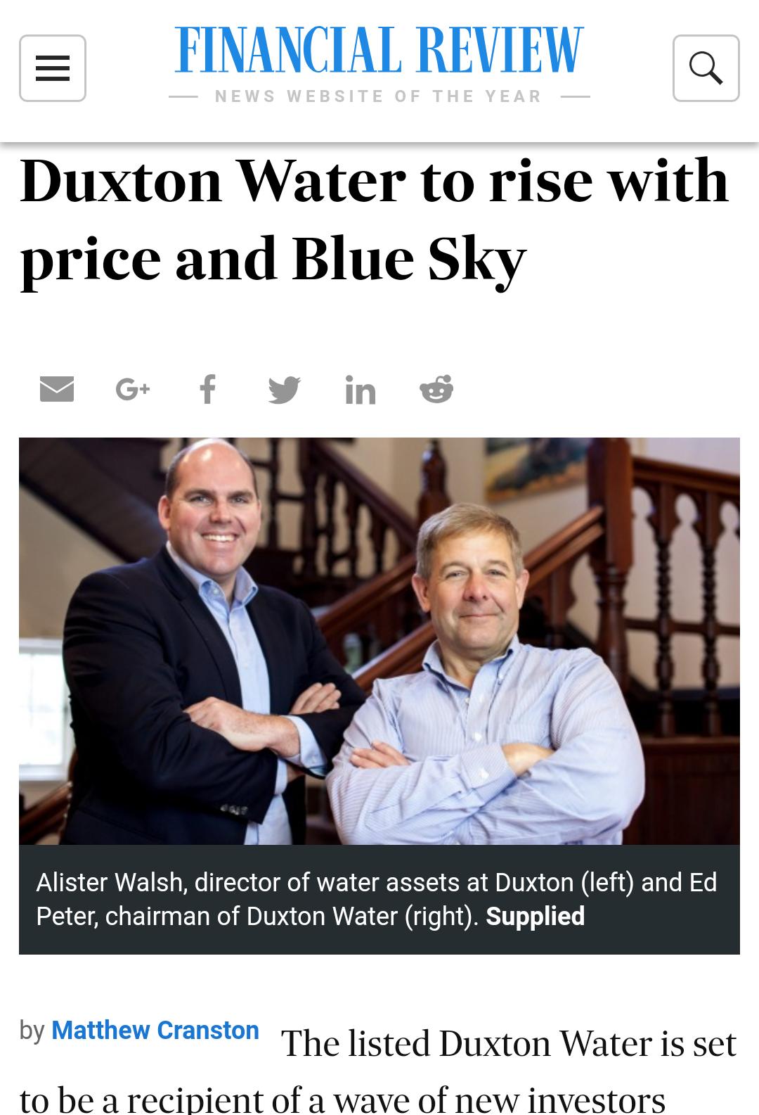 australian financial review duxton water amy rose hancock
